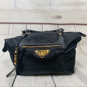 Sam Edelman Black Shoulder Bag Gold Hardware